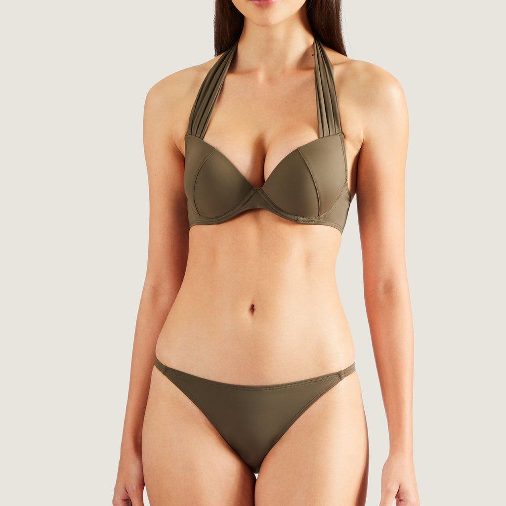Aubade Douceur Padded Bikini Top with straps around the neck
