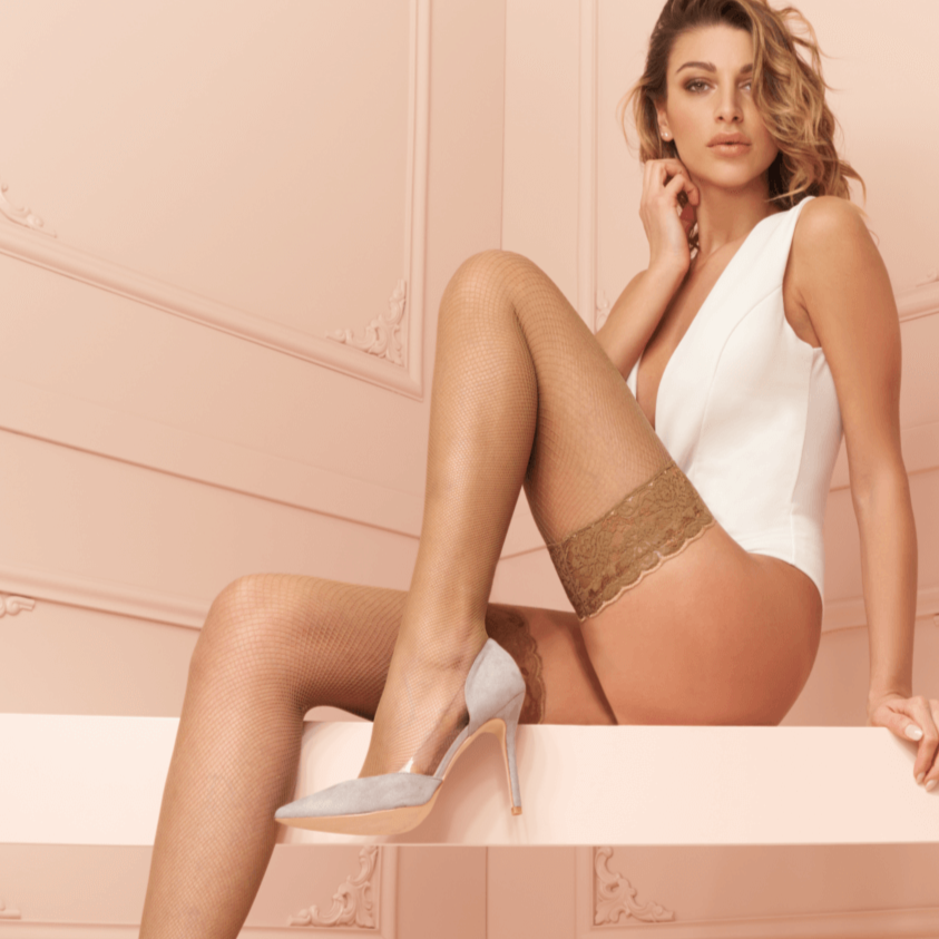 Trasparenze Ambra Fishnet Stay Ups