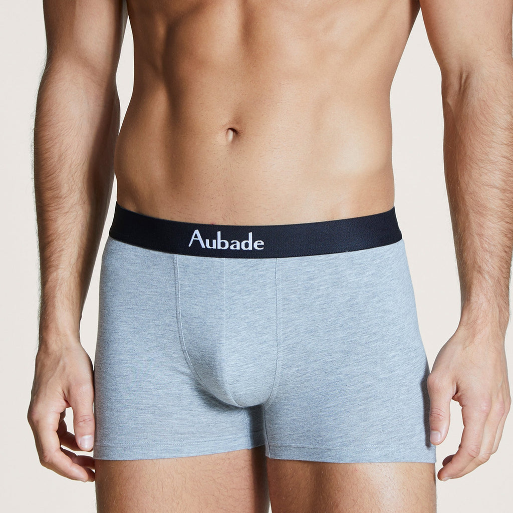 Aubade Neon Skull Men's Boxers Duo Pack - This pack of 2 Boxers consists of a plain pair for a timeless look and a printed pair for a fun twist.   Knit: 47% Cotton, 47% Modal, 6% Elastane