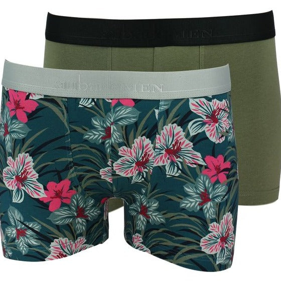 Aubade Men's Cotton & Modal Boxer Duo