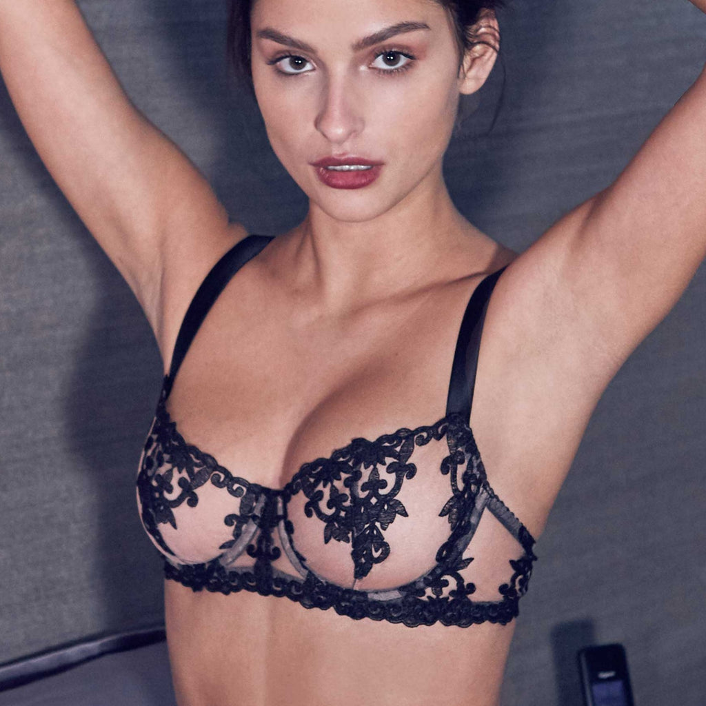 Fleur of England Onyx Wired Balcony Bra