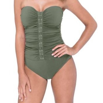 Gottex Moto Padded Strapless Swimsuit