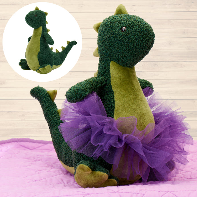 Dinosaur Stuffed Animal Plush Toy With Included Tutu