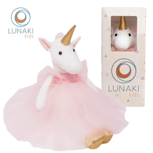 Unicorn Stuffed Animal Plush Toy in Pink Tutu Dress