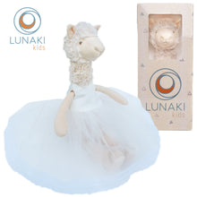 Load image into Gallery viewer, Llama Stuffed Animal Plush Toy in White Tutu Dress