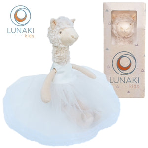 Llama Stuffed Animal Plush Toy in White Tutu Dress