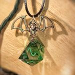 'A Bit Batty' Handmade D8 Pendant Necklace