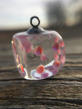 Load image into Gallery viewer, Mini Pip Rainbow Shimmer Handmade Dice Pendant Necklaces
