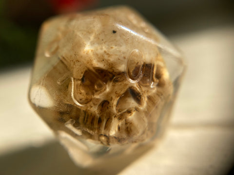 Custom Ink Skull D20 Single Gaming Dice