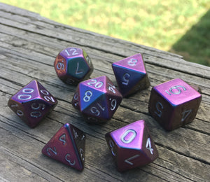 'False Prophet'- Handmade Metallic Resin Color Shifting Gaming Dice D20 or Set
