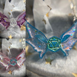 Dainty Winged D20 'Naevi's Oddities' Branded Pendant Necklace