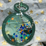 Glow in the Dark Pocket Watch Shaker Keychain