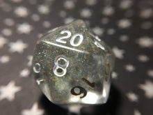 Load image into Gallery viewer, 'Titania's Armor' Semi-Translucent Holographic Handmade D20 Dice