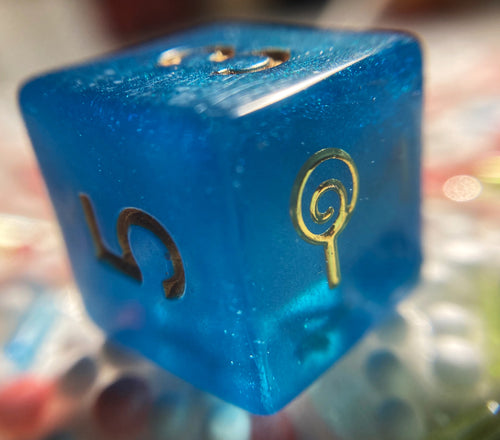 Jester Inspired Spiritual Weapon Handmade D6 Dice