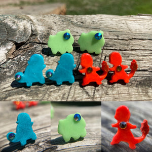 Starter Pokémon Hypoallergenic Post Earrings