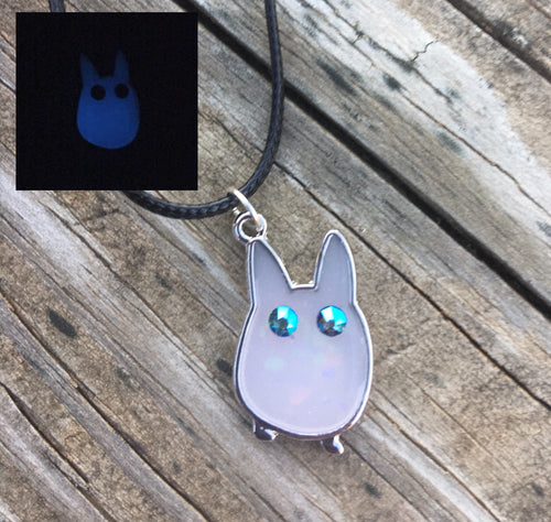 Mini Totoro Spirit Glow in the Dark Pendant Necklace