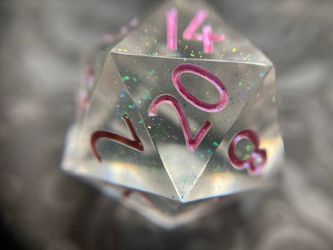 'Charmed' Handmade Sharp Edge Gaming D20