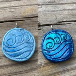 Waterbender Polymer Clay Pendant Necklace