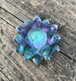 'Deep into the Forest' Color Shifting Large Resin Crystal Hair Clip