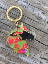 Load image into Gallery viewer, Large Glow in the Dark Unicorn Keychain