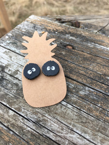 Soot Sprite Inspired Hypoallergenic Post Earrings