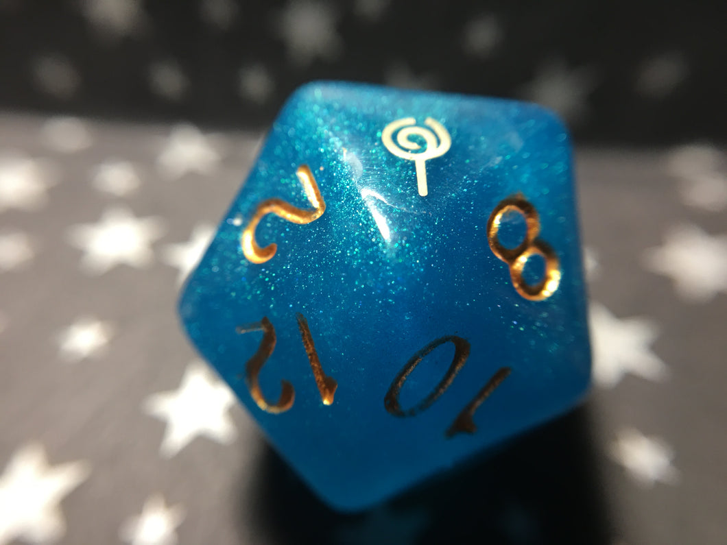 Jester Inspired Handmade D20 Gaming Dice