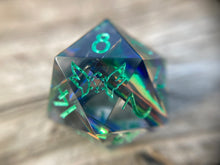 Load image into Gallery viewer, 'Steampunk-ish' Handmade Precision Polyhedral Gaming Dice Set