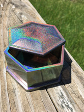 Load image into Gallery viewer, Holographic Hexogon Dice Box w/ Magnetic Closure