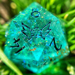 'Enchanted Baubles' Handmade Sharp Edge Gaming D20