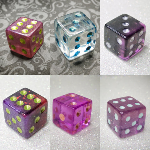 Individual Limited Quantity Pipped Handmade Gaming Dice