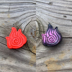 Firebender Polymer Clay Pendant Necklace