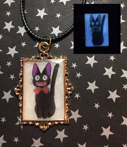 Jiji Inspired Glow in the Dark Pendant Necklace