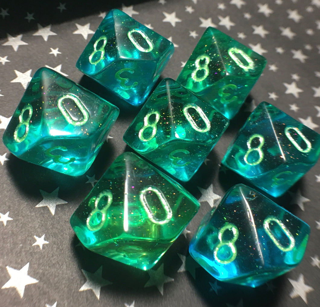 'Mermaid Tears' Handmade D10 Gaming Dice