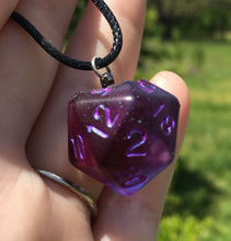 Load image into Gallery viewer, Handmade D20 Pendant Necklace