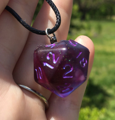 Handmade D20 Pendant Necklace