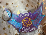 Naevi's Oddities Fairy D20 Logo Keychain