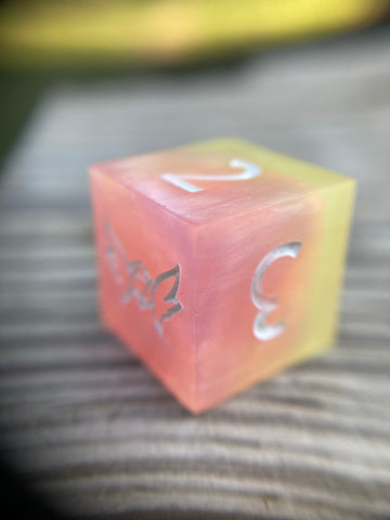'Gnomish Sweets' Custom Ink Sharp Edge Gaming D6