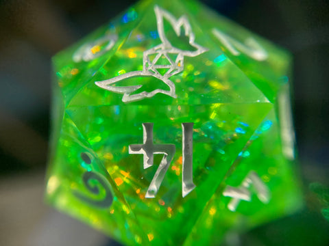 'Nessie' 30mm Handmade Iridescent Precision Gaming D20