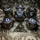'Corrupted Galaxies' Handmade Color Shifting Sharp Edged Gaming Dice Set