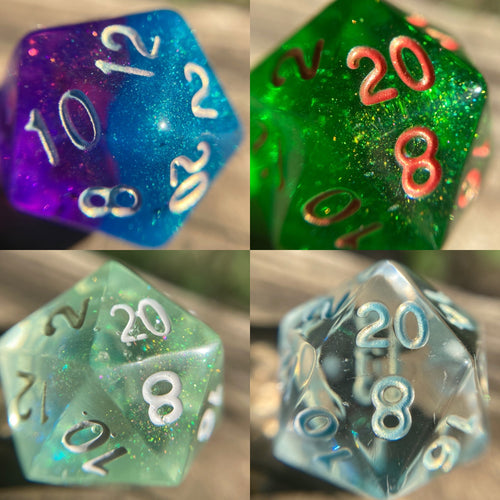 Individual Tester Color Gaming D20 Dice