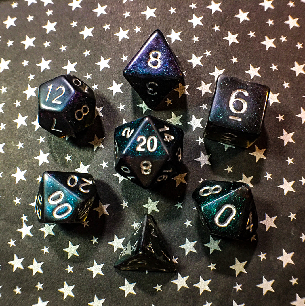 Pandora's Corruption Handmade Polyhedral Gaming Dice Set