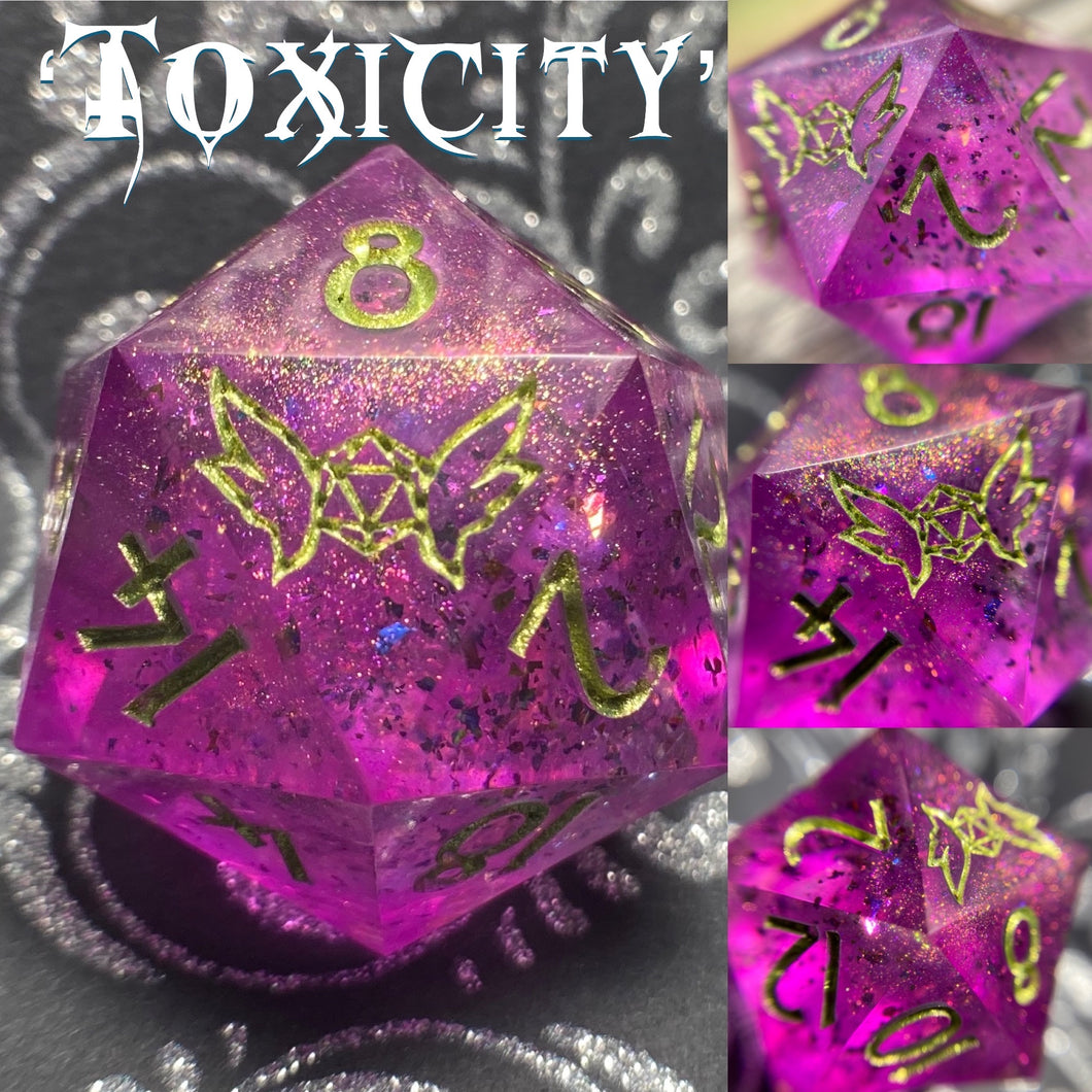 'Toxicity' Handmade 30mm Precision Gaming D20