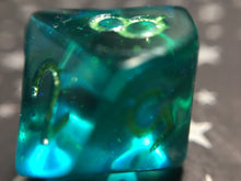 Load image into Gallery viewer, 'Mermaid Tears' Handmade D10 Gaming Dice
