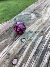 Load image into Gallery viewer, 'Girls Just Wanna Have Fun' 80's Music Inspired Handmade Sharp Edged D20 Dice