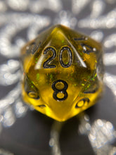 Load image into Gallery viewer, 'Hufflepuff Pride' Handmade Gaming D20 Dice