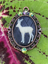 Load image into Gallery viewer, Small Cameo Pendant Necklaces w/ Swarovski Crystal Accents