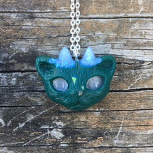 Load image into Gallery viewer, Deep Forest Green Faun Kitty Necklace