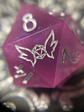 Load image into Gallery viewer, 'Tsundere' Handmade 30mm Color Changing Gaming D20