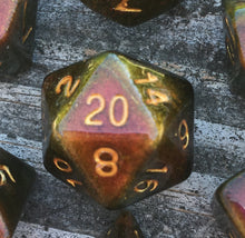Load image into Gallery viewer, 'Rage Quit' Handmade Polyhedral Gaming Dice D20