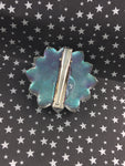 Color Shifting Resin Large Crystal Hair Clip